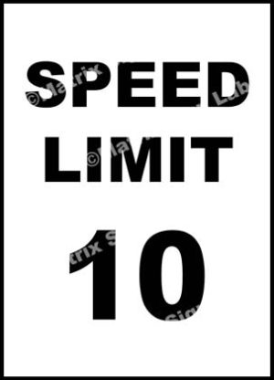 Speed Limit 10 KMPH Sign