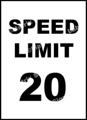 Speed Limit 20 KMPH Sign
