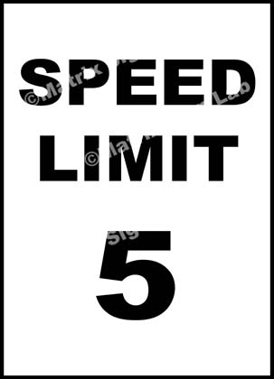 Speed Limit 5 KMPH Sign