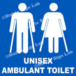 Unisex Ambulant Toilet Sign