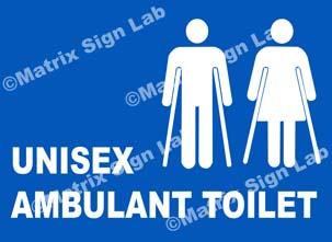 Unisex Ambulant Toilet Sign