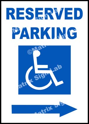 Disabled Reserved Parking Right Sign
