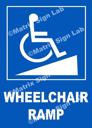 Disabled Wheelchair Ramp Sign