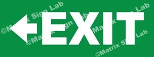 Exit Left Sign - MSL36427