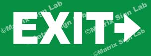 Exit Right Sign - MSL36395