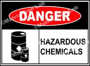 Hazardous Chemicals Sign