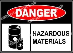 Hazardous Materials Sign - MSL39465