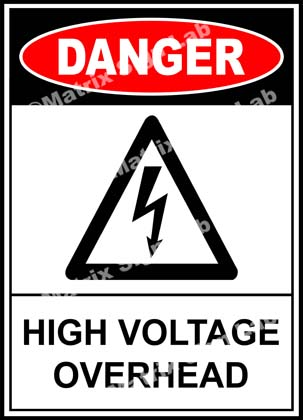 High Voltage Overhead Sign