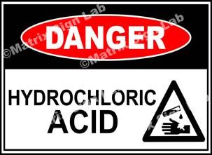 Hydrochloric  Acid Sign