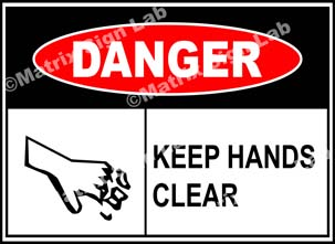 Keep Hands Clear Sign - MSL39113