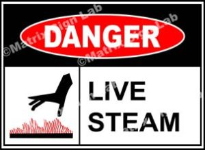 Live Steam Sign