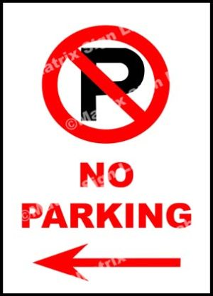 No Parking Left Sign