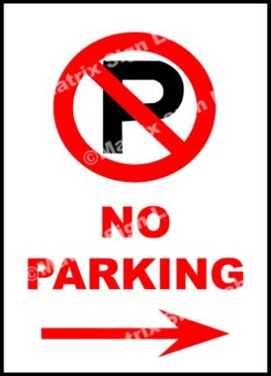 No Parking Right Sign