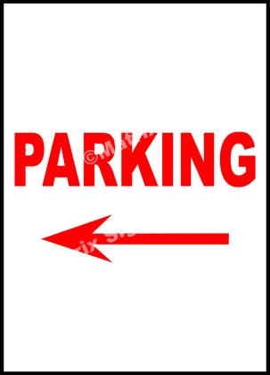 Parking Left Sign
