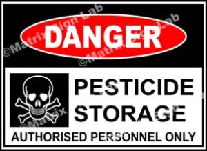 Pesticide Storage Authorised Personnel Only Sign