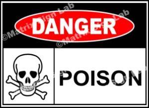 Poison Sign - MSL37946