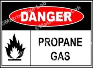 Propane Gas Sign