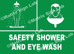 Safety Shower And Eye Wash Sign