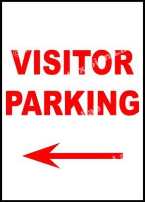 Visitor Parking Left Sign