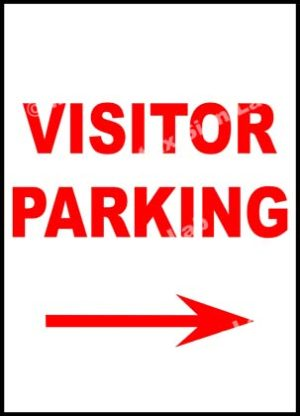 Visitor Parking Right Sign
