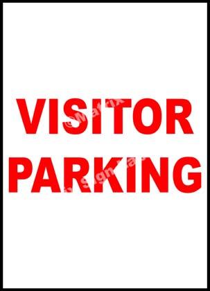 Visitor Parking Sign - MSL34744
