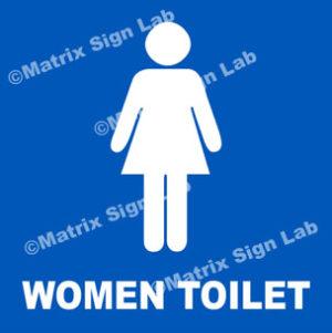 Women Toilet Sign