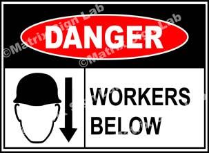 Workers Below Sign -  MSL37656