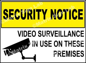 Security Signs, CCTV Camera Signs