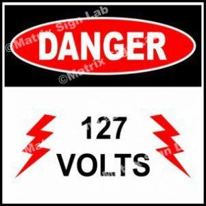 127 Volts Sign
