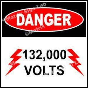 1,32,000 Volts Sign